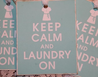 Keep Calm and Laundry On Gift Tags