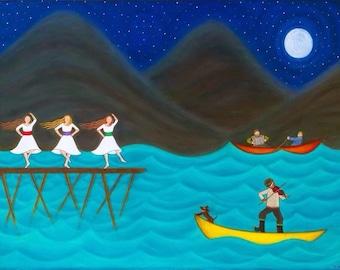 """11 x 14  """"Harbour Dance"""""""