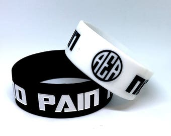 "No Pain No Gain 1"" Fitness Silicone Wristband 2.0"