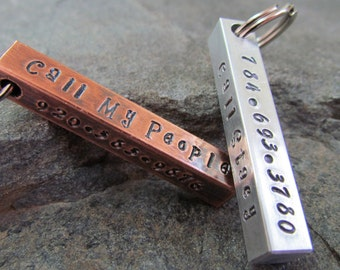 Pet Tag - Dog Tag - Pet ID Tag - Collar Tag - Personalized Pet - Pet Accessories - Aluminum Bar Dog Tag - Copper Bar Dog Tags - Hand Stamped