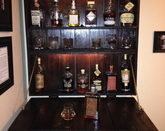 Rustic Liquor Shelf