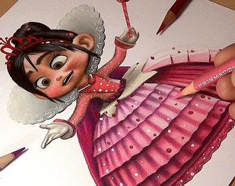 Princess Vanellope Drawing - Wreck-It Ralph