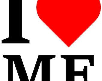 I Heart Me # 10 - 8 x 10 - T Shirt Iron On Transfer - Red