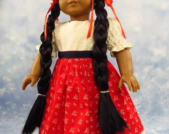 18 Inch Doll  Clothes Dress, Red Skirt/Blouse Outfit for American Girl Doll