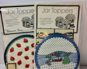 Set of Two Packages Vintage Jar Toppers for Canning