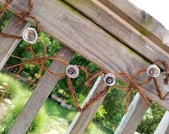 Literary Themed Wedding Railing Decor, RESERVED LISTING, 50 Ft Long with Novel Paper Roses