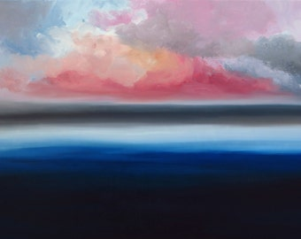Unknown horizon n2  Modern abstract oil painting Hand Painted