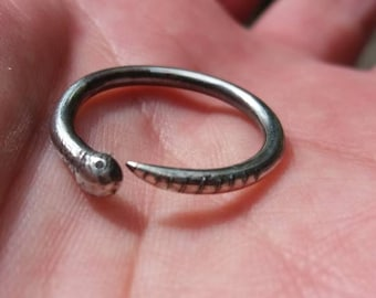 OUROBOROS STERLING STACKER - Custom made in your size
