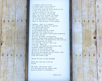 Poem or Song on Wood Sign