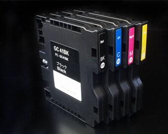 4 x Korean Made Sublimation GC41 Ink Cartridge for Ricoh Aficio SG3110DN SG3100DNW SG3100 SG7100DN SG3110SFNw