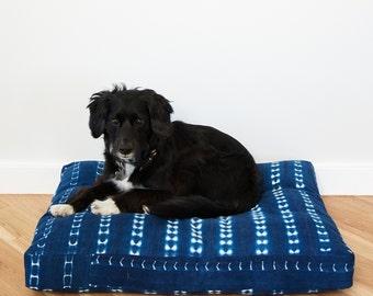 Indigo Shibori Pet Bed // Large