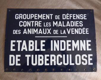 French Vintage Enamel Sign