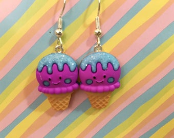 Happy Ice Cream Dangle Earrings