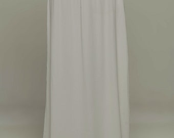 Gray Saree Petticoat - Drawstring Pull-On Maxi-Skirt
