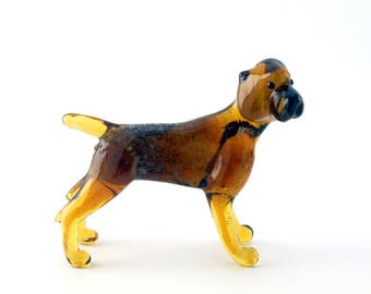 Color Glass Kurzhaar Figurine.Dog Figurine Glass.Figure miniature.glass lampwork.glass dog sculpture.dog figurine.(e10)