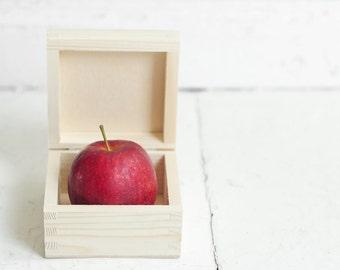 wooden box 10x10cm, natural wood, unpainted, wooden keepsake, unpainted wood, wooden supplies, box, DIY