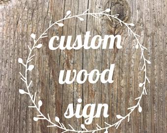 reclaimed wood sign/wood sign/custom/