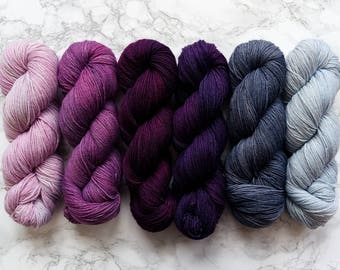 Hand dyed yarn, sock yarn wool, find your fade, gradient yarn, best selling items, knit gift for mom, knitting mom gift, PREORDER - Winter