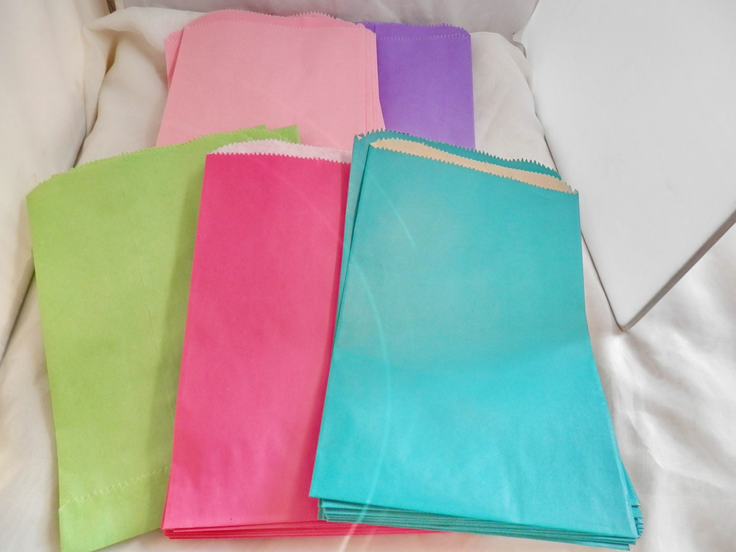 100 6x9 Lime Green Hot Pink Teal Purple and Pastel Pink