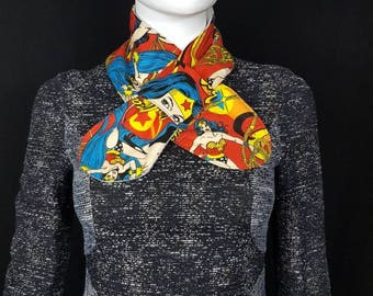Wonder woman fabric scarf