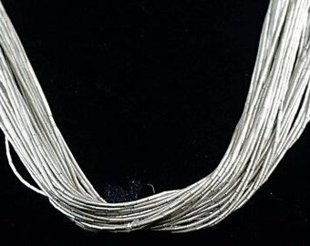 Vintage Navajo 50 Strand Liquid Silver Necklace-Item#801A