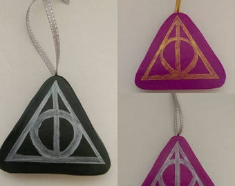 Harry Potter Deathly Hallows Christmas Polymer Clay Christmas Decoration