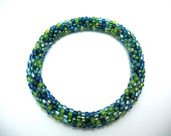Aqua Lime Bead Crochet