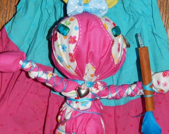 Color of Love Poppet - Juju Doll - Voodoo Dolls - Voodoo Fetch - Vodou - Folk Art Doll - Supplies - Occult Art - Witchcraft Doll - Juju Doll