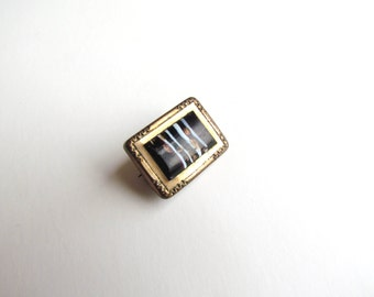 SALE- Antique Victorian Glass Brooch c.1880s