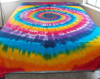 Tie Dye Queen-size Flat Sheet