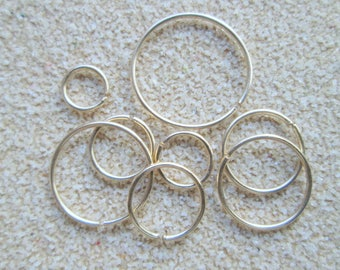 Small Gold Hoop, Thin Gold Cartilage Earring, 22 Gauge Gold Helix Tragus Daith, 14K Gold Filled Cartilage Hoop, Gold Hex Hoop, VooVooDesign