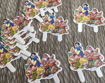 36 Snow White and the Dwarfs Cupcake Toppers Grumpy Dopey