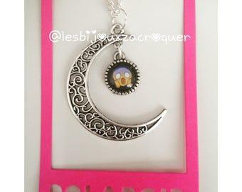 Necklace cameo charm Moon emoji 4