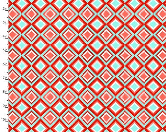 Coral Diamonds from 3 Wishes Fabric's Kohana Collection