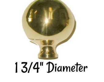 Brass Bed Ball- Brass Bed Finial - Brass Finial Available in two sizes