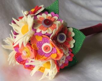 Tutti Fruity Felt Flower Bouquet
