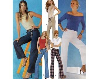 "Women's Below Waist Pants Sewing Pattern, Misses Size 6-8-10-12, Waist 23-24-25-26 1/2"" Uncut McCall's 3657"