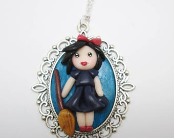"Necklace Cabochon Kawaii Baroque ""Kiki"" Fimo"