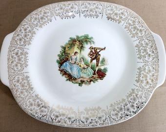 Large Vintage Platter, Vintage Victorian Platter, Triumph Vintage Platter, Truimph Limoges China D' Or, Courtship Victorian Platter - V235