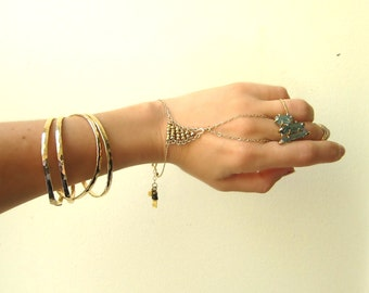 14k Gold Filled Hammered Bangles Adjustable Set of Three