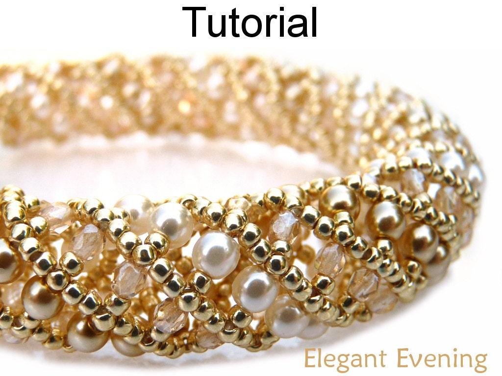 Netted Stitch Beading Pattern Bracelet Necklace Jewelry
