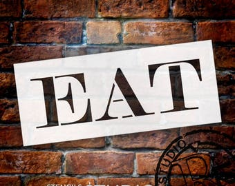 Eat - Skinny Serif - Word Stencil - Select Size - STCL2061 - by StudioR12