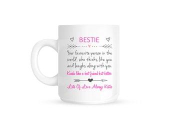 Personalised Bestie Best Friend Gift Ceramic Mug