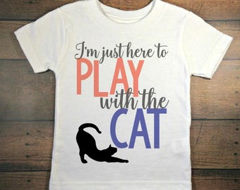 i'm just here to play with the cat, baby girl take home outfit, toddler girl outfit, cute baby clothes, newborn outfit, baby shower gift