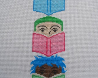 Let's Read Cross-Stitch Bookmark Pattern