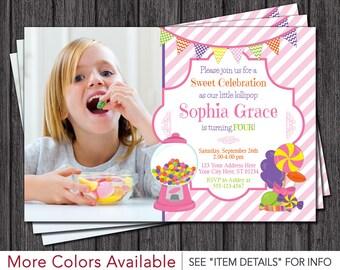 Candy Birthday Invitations | Candy Invitation | Sweet Shoppe Party Invitations