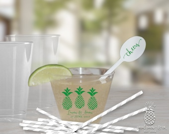 Pineapple Party | Customizable Clear Disposable Cups