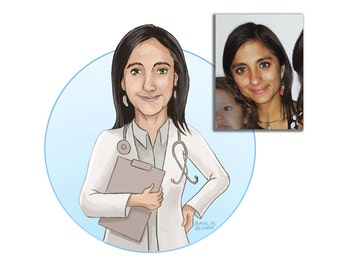 Custom Digital Avatar, profile picture, social media, illustrated portrait, cartoon portrait, blog portrait, profile picture, about page