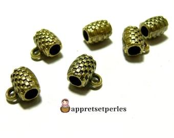 Finish jewelry: 10 bails failure 2D1153 Bronze pendants
