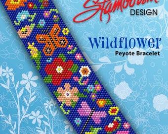 Wildflower Peyote Bracelet PDF Pattern
